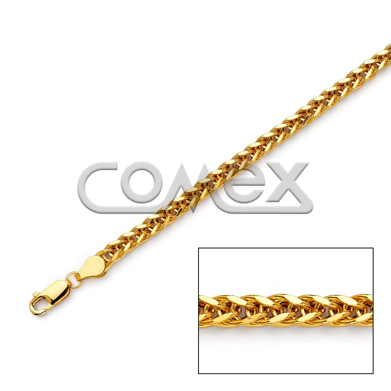 080 Hollow Wheat Square Diamond Cut (4.0mm)