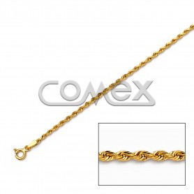 014 Hollow Rope Diamond Cut (1.8mm)