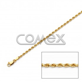 016 Solid Rope Diamond Cut (2.0mm)