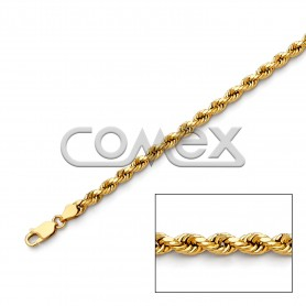 030 Hollow Rope Diamond Cut (4.0mm)
