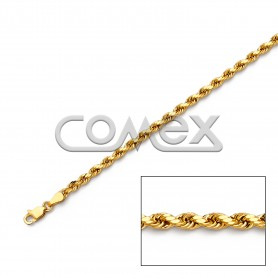 023 Hollow Rope Diamond Cut (3.0mm)