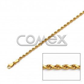 018 Hollow Rope Diamond Cut (2.5mm)