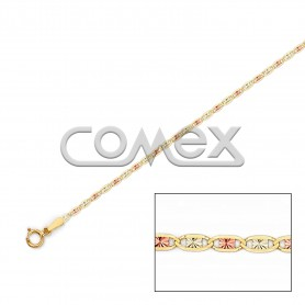 030 Solid Valentino with Star Tri-Color (1.4mm)