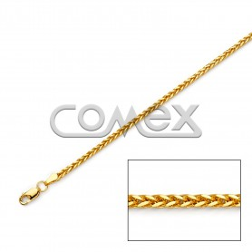 045 Hollow Wheat Square Diamond Cut (2.0mm)