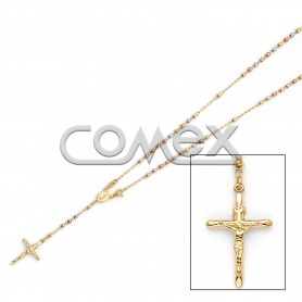 Diamond Cut Rosary Tri Color (3.0mm)
