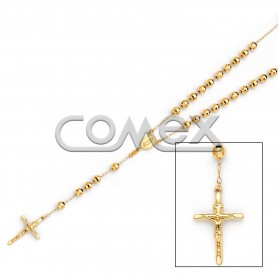 Diamond Cut Rosary Yellow (6.0mm)