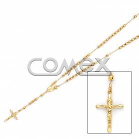 Diamond Cut Rosary Yellow (4.0mm)