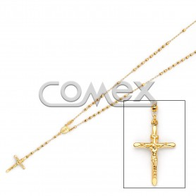 Diamond Cut Rosary Yellow (3.0mm)